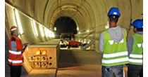 Visit of the emergency stop in the tunnel at Ferden