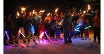 Torchlight descent in Siviez