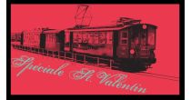 Romantic trip with a retro train for the St Valentine's day