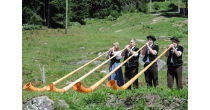 Experience how to create a tone on a Swiss Alphorn.