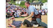 Vaud county swiss wrestling festival