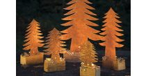Kurs: Ein stimmungsvoller Winterwald aus Rostblech und Altholz