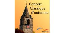Concert classique d'automne de Gryon