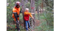 Forest experience day with the local woodsman