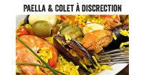 Paella und Colet à discretion mit Abendverkauf