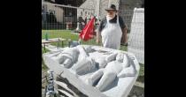 Einweihung der neuen Skulptur von Ewald Brigger