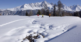 Snowshoe tours in the Parc Ela