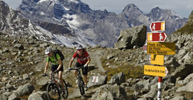 Alpine biking: Scuol– Tiefencastel