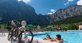 Mountain bike and thermal baths in Leukerbad