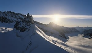 Jungfraujoch with the Sphinx Laboratory, Bernese Oberland