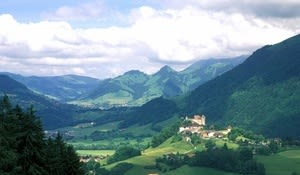 Gruyères castle and village, Pays de Fribourg