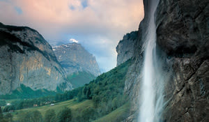 Lauterbrunnen Valley and the Staubbach Waterfall, Bernese Oberland