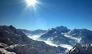 Nendaz - A fantastic panorama from the Mont-Forts glacier, 3,330 m above sea-level.