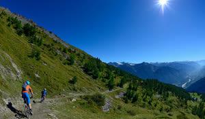 Torrent-Trail oberhalb der Alp Chermignon