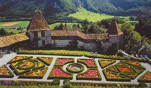 Flower garden Gruyères