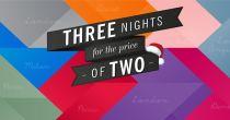 3 Nächte schlafen und 2 bezahlen