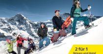 2 für 1 Ski Package Jungfrau Ski Region