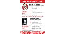 Fête nationale (mardi 1er août) à Mex