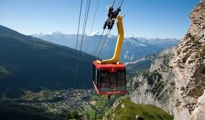Klettersteig Leukerbad : Hütten in klettersteig nähe bergwelten